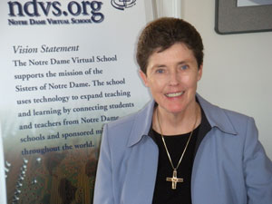 Sr. Kristin Hokanson, SND is principal and creator of The Notre Dame Virtual S