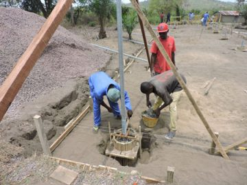 pouring foundation for solar